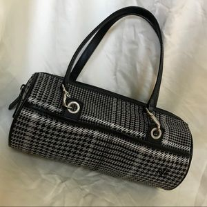 Lauren Ralph Lauren Black & White Houndstooth Bag